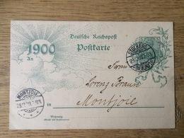 Deutsche Reichspost Postkarte 1900, Stolberg --> Montjoie (Monschau) - Brieven En Documenten