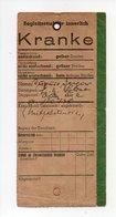 Billet Etiquette Du Malade Jacques Dupuis, Camp De Prisonniers De Guerre, Hopital Militaire, Lager Lazarett Oflag XIII A - 1939-45