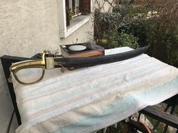 Sabre Briquet D Infanterie De La Garde Nationale Lame Datee Plus Poinçon - Armes Blanches