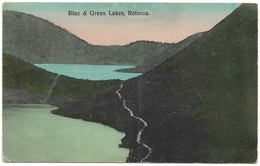 Blue & Green Lakes Rotorua New Zealand - 1910 - New Zealand