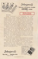 Suisse Facture Lettre Illustrée SCHWEIZER & Co Soieries Broderies LUCERNE - Format 22 X 14 Cm - Suisse