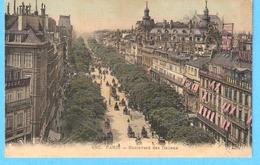 """Paris 2e-1911-Boulevard Des Italiens-Maison """"Photographie Ladrey-Disdéri""""au N°6 à Côté Du """"Grand Hôtel""""-carte Toilée - Arrondissement: 02"""