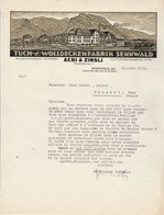 Suisse Facture Lettre Illustrée 21/3/1930 AEBI & ZINSLI Tuch Wolldeckenfabrik SENNWALD - Laine - Suisse