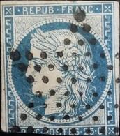 FRANCE Y&T N°4 Cérès 25c Bleu. Oblitéré étoile De Paris - 1849-1850 Cérès