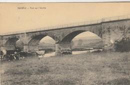 Noiseux , Pont Sur L'Ourthe  , ( Somme - Leuze ) Troupeau De Vache - Somme-Leuze