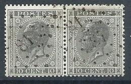 N°17 En Paire, 10c Gris Lpts 81 CHIEVRE-ATTRE - 1865-1866 Profil Gauche