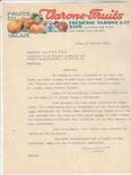 Suisse Facture Lettre Illustrée 16/2/1938 Frédéric VARONE Fruits Du Valais SION - Suisse