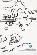 974 ILE DE LA REUNION - Carte PUB - DESSIN  Illustration JACE  Pour La Compagnie Aerienne  AIR AUSTRAL  Avion - Aviation