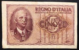 5 Lire Impero 1944  Bel Bb LOTTO 792 - [ 1] …-1946 : Regno