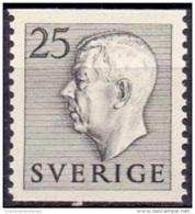 ZWEDEN 1951-1957 25öre Grijs Gustaf VI Adolf Type I PF-MNH - Suecia
