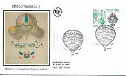 FRANCE 2013 Stamp Day PARACHUTES, MARIANNE STAMP FDC UNUSED - 2010-....