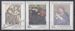 Czech Republic - Tcheque 1994 Yvert 56-58 Art, National Gallery Paintings - MNH - Nuevos
