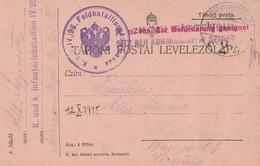 Romania Austria WWI Feldpost Maramarossziget Sent To Karlovac Croatia 1915 - Briefe U. Dokumente