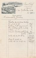 Suisse Facture Note Illustrée 30/11/1914 Hôtel BOIS CERF  LAUSANNE - Suisse