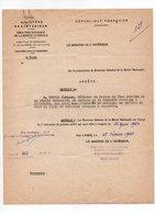 Ministere De L'Interieur, Mutation De Jacques Dupuis à Chamonix, Officier De Police, Millot, Montgeron (19-442) - Police & Gendarmerie
