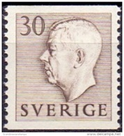 ZWEDEN 1951-1957 30öre Bruin Gustaf VI Adolf Type I PF-MNH - Suecia