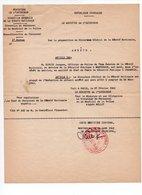 Ministere De L'Interieur, Mutation De Jacques Dupuis à Chamonix, Officier De Police, Millot, Montgeron (19-443) - Police & Gendarmerie