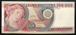 100000 Lire Primavera Di Botticelli 01 07 1980 Bb+/q.spl Pressata Lotto 1190 - [ 2] 1946-… : Repubblica