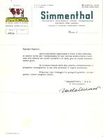 """2924 """" SIMMENTHAL S.p.a. - LETTERA TIPO PER ADESIONE ALLA MOSTRA -MAI SPEDITA-SENZA DESTINATARIO """" ORIGINALE - Altri"""