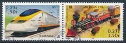 France - Les Légendes Du Rail - Eurostar + American 220 - YT 3405 + 3406 Se Tenant Obl - France