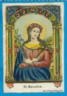 Holycard   Handcolored    St. Rosalia   J. Koppe  19. Century - Santini