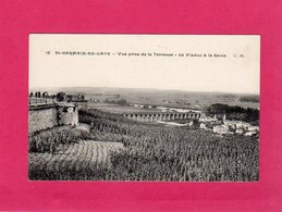 78 Yvelines, St-Germain-en-Laye, Vue Prise De La Terrasse, Le Viaduc Et La Seine, Animée, (C. Malcuit) - St. Germain En Laye