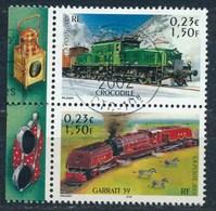 France - Les Légendes Du Rail - Crocodile + Garratt 59 - YT 3407 +3409 Se-tenant Obl - France