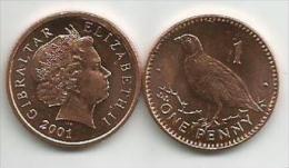 Gibraltar 1 Penny 2001. High Grade - Gibraltar