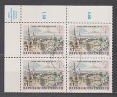 1964 , 4 Er Block Mi 1170 (2) Gestempelt Mit Gummi - Int. Briefmarkenausstellung WIPA 1965 , ST 5023 Salzburg - Gnigl - 1961-70 Afgestempeld
