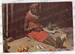 EXOTIC AFRICAN TRIBES KENYA MASAI GIRL Air Mail Storia Postale Kenia Girl - Kenya