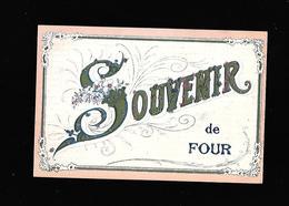 C.P.A. D UN SOUVENIR DE FOUR 38 - France