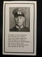 Sterbebild WK2 Obergefreiter Grenadierregiment WW2 1945 Im Westen Gefallen - 1914-18