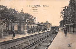 ¤¤  -  CHATOU - CROISSY  -   La Gare   -   Train , Chemin De Fer     -  ¤¤ - Chatou