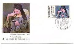 1982 FDC JOURNEE DU TIMBRE - LES VANS ARDECHE - 1980-1989