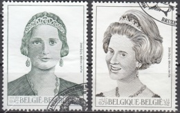 Belgique 2000 COB 2879 - 2880 O Cote (2016) 4.25 Euro Reine Astrid & Reine Fabiola Cachet Rond - Belgique