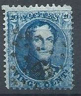 N°15 , 20c Bleu BDF Impression Avec Tâches Lpts 60 Bruxelles - 1863-1864 Médaillons (13/16)