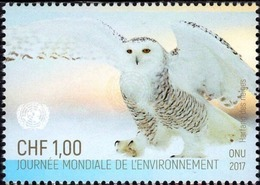 UNO-Genf ONU Genève UNPA Geneva 2017: Schnee-Eule - Harfang Des Neiges - Snowy Owl (Bubo Scandiacus) ** MNH - Hiboux & Chouettes
