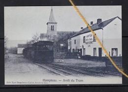 REPRODUCTION HAMPTEAU HOTTON LUXEMBOURG ARRET DU TRAM CAFE PAQUET CORNET - Hotton