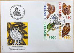 Schweiz Suisse 1995:  Biber Insekt Frosch Steinkauz Zu 876-879 Mi 1544-47 Yv 11472-75 Auf FDC (Zu CHF 5.00) - Hiboux & Chouettes