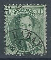 N°13, 1c Vert Dc HABAY - (la Neuve) RR - 1863-1864 Médaillons (13/16)