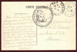 Franchise Militaire ( Hôpital Temporaire N° 14 Pau - 18 Eme Corps D'armée ) 1914 / 1918  Basses-Pyrénées Convalescent - Marcophilie (Lettres)