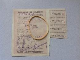 Viesville Carte De Ravitaillement 1947 - Cartes