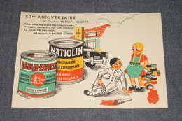 RARE,superbe Buvard Publicitaire Ancien,couleur Natiolin & Ecolac,charleroi 50 Iem Anniversaire,15 Cm.sur 10,5 Cm. - Peintures