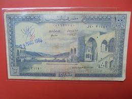 LIBAN 100 LIVRES CIRCULER+CACHET Et SIGNATURE - Liban