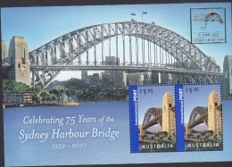 AUSTRALIA, 2007 SYDNEY HARBOUR BRIDGE O/P  MINISHEET MNH - 2000-09 Elizabeth II