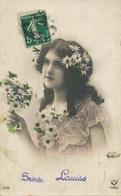 Belle Femme Sainte Louise Envoi à Louise Piault Collier Marguerites - Prénoms