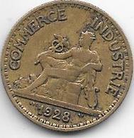 *france 50 Centimes  1928  Km  884   Vf - France