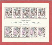 MONACO , Bloc N° 46 , 29 Frs , EUROPA , Les Jeux De Billes , La Corde à Sauter , 1989 , NEUF ** - Blocs