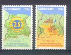 Mwb0354 LANDKAART ONTWIKKELING NATUURLIJKE HULPBRONNEN DEVELOPMENT NATURAL RESOURCES MAP SURINAME 1983 PF/MNH VANAF1EURO - Suriname