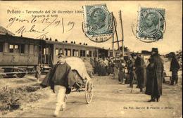 PELLARO  Terremoto Del 28 Dicembre 1908  Trasporte Di Fériti - Altre Città